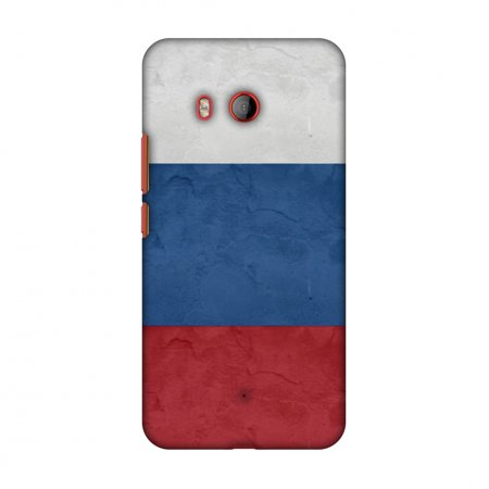 HTC U11 Case, Premium Handcrafted Printed Designer Hard Snap on Shell Case Back Cover with Screen Cleaning Kit for HTC U11 - Russia flag-