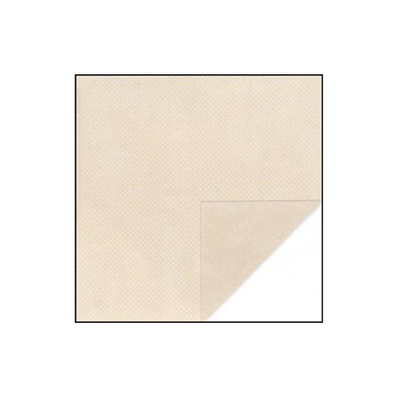 Bo Bunny Double Dot Paper 12x12 Almond (pack of 25) Bo Bunny Double Dot
