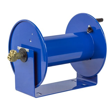 Coxreels 100 Series Compact Hand Crank Lightweight Water and Air Hose Reel, Blue