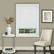 """Amanecer Collection Cordless Vinyl 1-Inch Light Filtering Mini Blind- Pearl White - 23"""" x 64"""" (Actual Measurement 22.5"""