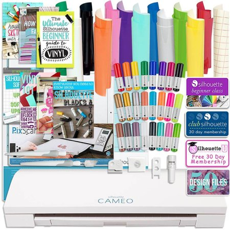 Silhouette Cameo 3 Bluetooth Bundle with Oracal 651 Vinyl, Tools, Pixscan, and (Best Silhouette Cameo 3 Bundle)