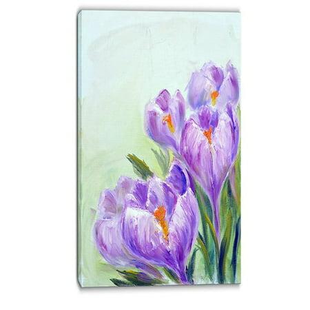 - DESIGN ART Designart - Crocuses Looking into Sky - Floral Canvas Print - Purple