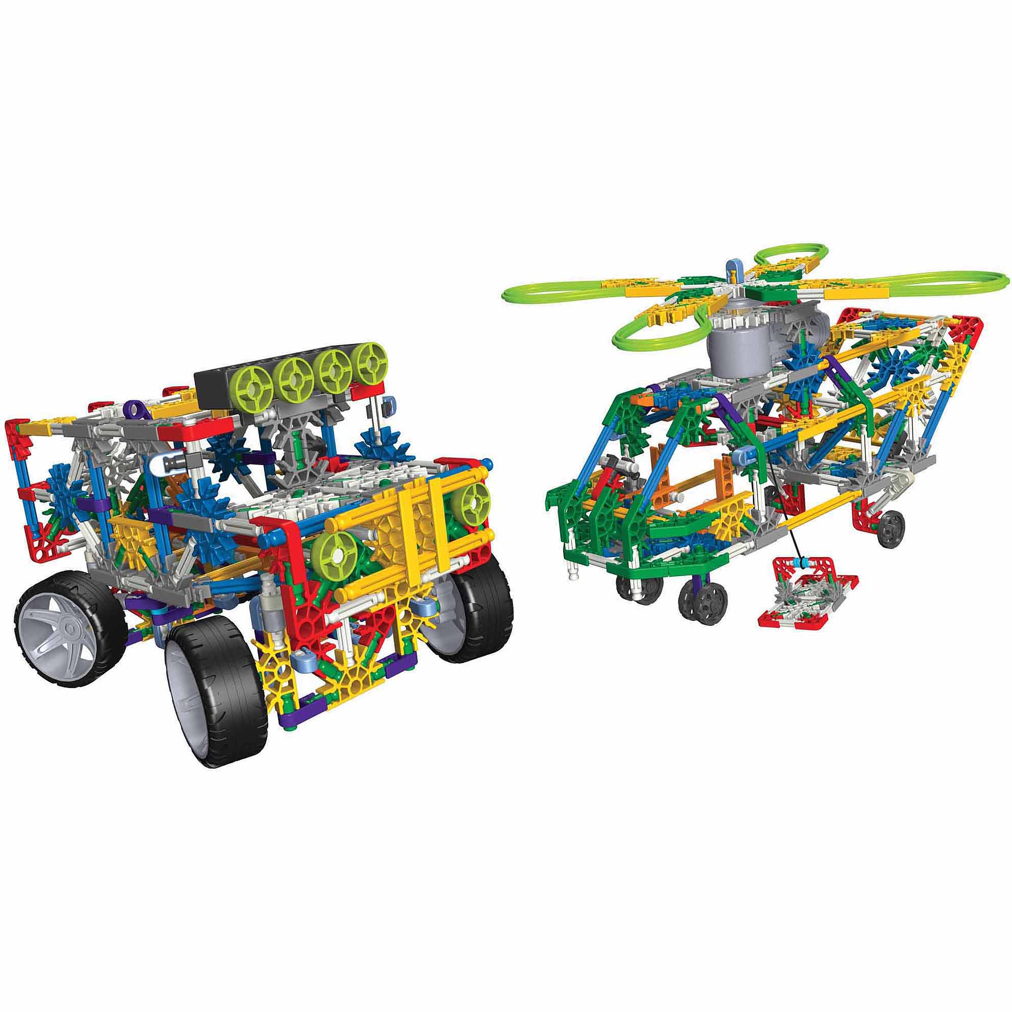 K'NEX Bundle: Transport Chopper and 4 Wheel Drive Truck Building Sets