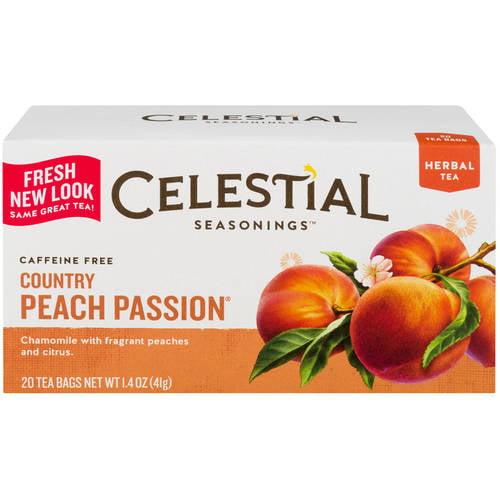 Celestial Seasonings Caffeine Free Country Peach Passion Herbal Tea Bags, 20 ct