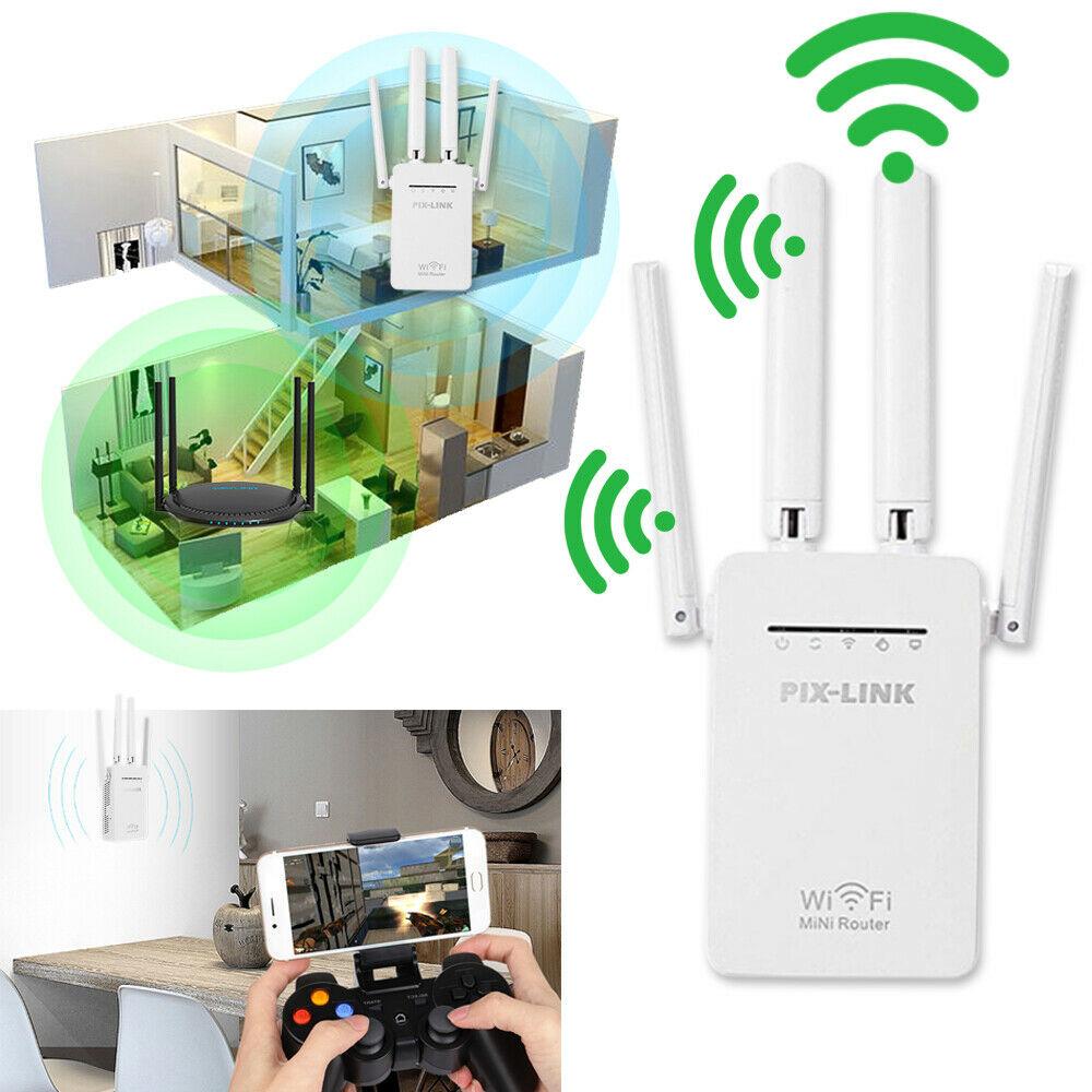 WiFi Range Extender Internet Booster Network Router ...