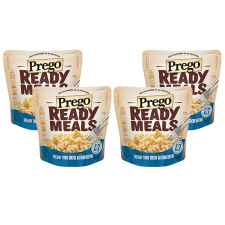 (4 Pack) Prego Ready Meals Creamy Three Cheese Alfredo Rotini, 9