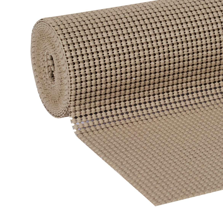 Duck Select Grip 12 In. x 10 Ft. shelf Liner, Brownstone