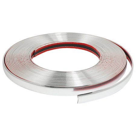 Unique Bargains Auto Line Chrome Moulding Trim Strip Silver Tone 15M x 10mm