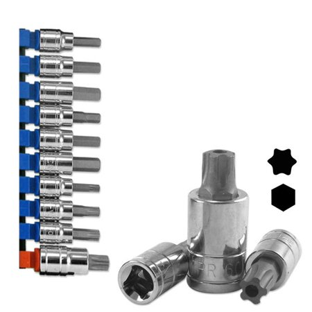 Neiko Universal Brake Caliper Socket Set METRIC SAE HEX TORX 10 PC ()