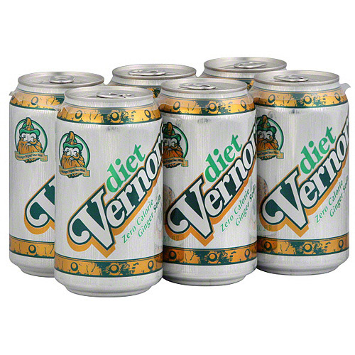 Vernors Diet Ginger Soda, 6ct (Pack of 4)