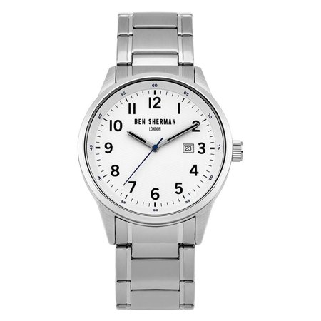 Ben Sherman WB065SM Men's White Dial Steel Bracelet Quartz Watch ()