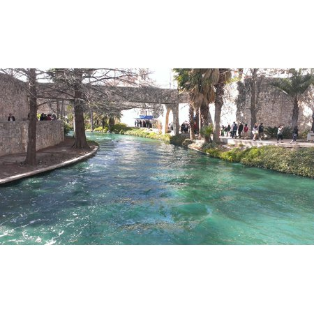 LAMINATED POSTER River-walk Water Canal Inner City San Antonio Poster Print 24 x 36 (San Antonio City)