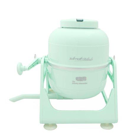 The Laundry Alternative Wonderwash Retro Colors Non Electric Portable Compact Mini Washing Machine (Mint Green) by The Laundry Alternative