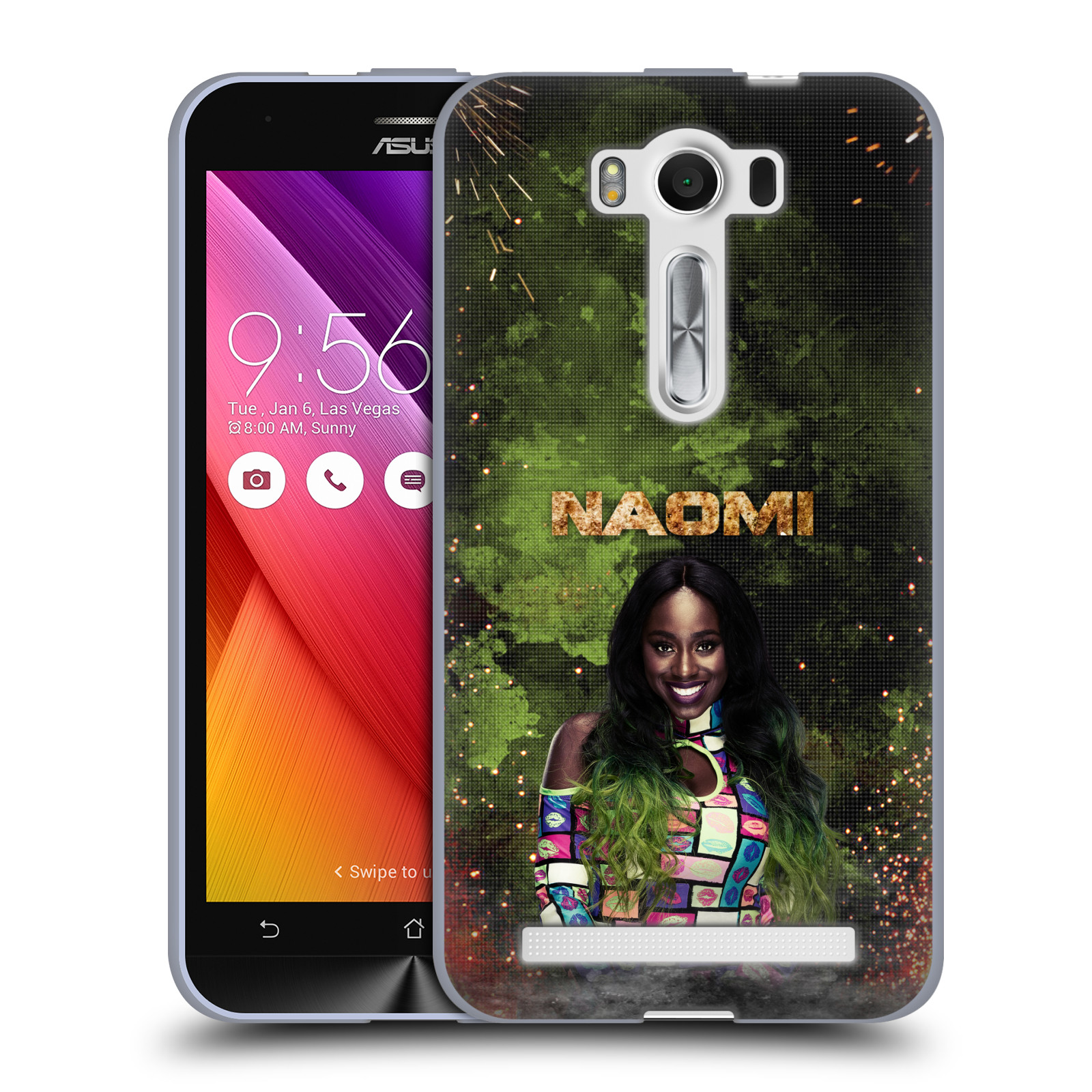 OFFICIAL WWE NAOMI SOFT GEL CASE FOR ASUS ZENFONE PHONES