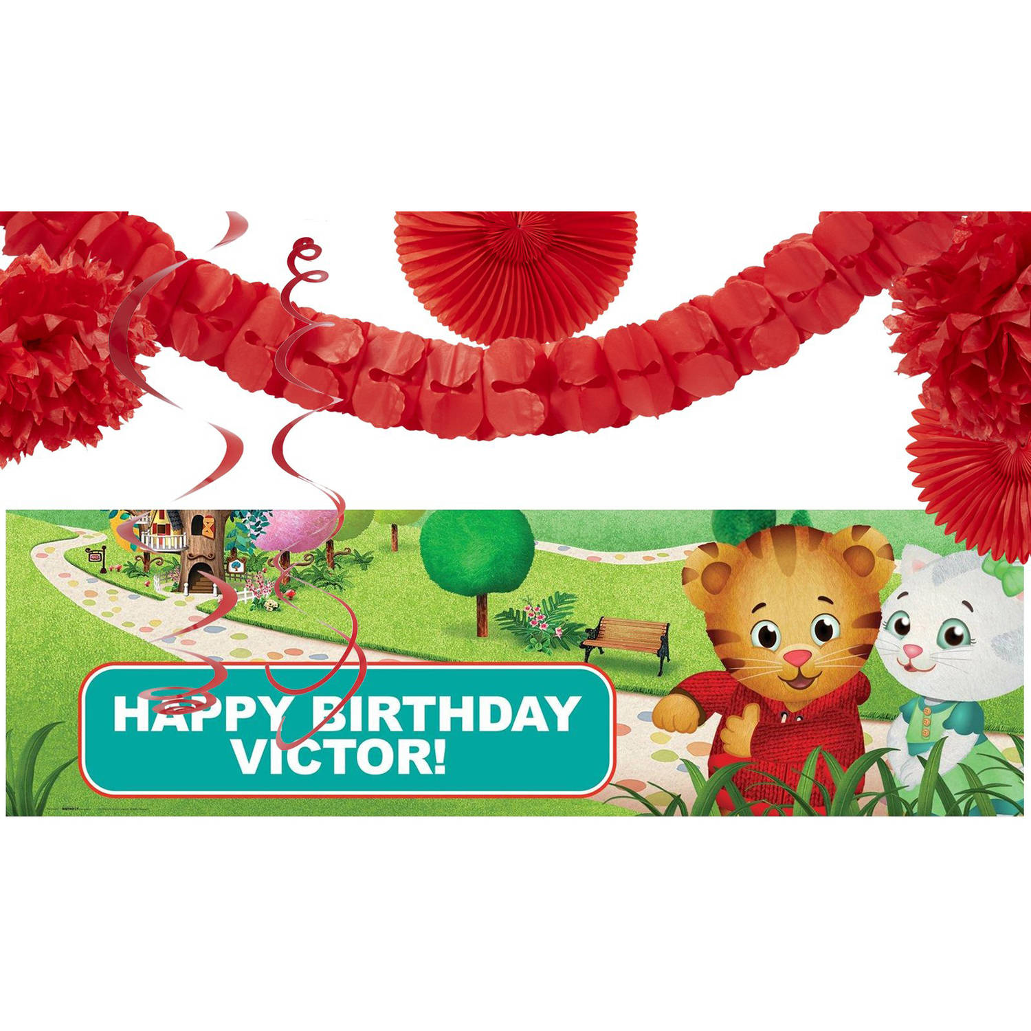 Daniel Tiger's Neighborhood Party Banner Decoration Kit