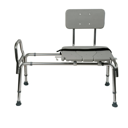 DMI Heavy-Duty Sliding Transfer Bench with Cut-Out Seat, 19-23