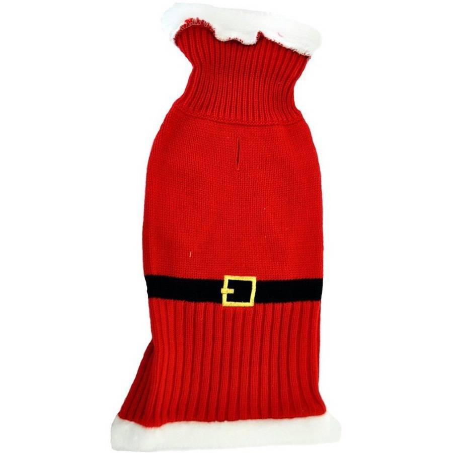 Otis & Claude Fetching Fashion Holiday Santa Sweater, Small