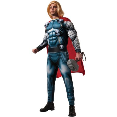 Marvel Classic Deluxe Thor Men's Adult Halloween Costume, 1 Size - Thor Mens Costume
