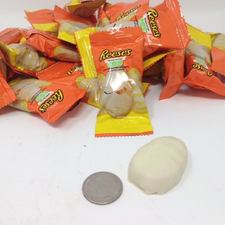 White Reese's Peanut Butter Eggs wrapped 1 pound Reese's White Creme - Butter Cream Mints