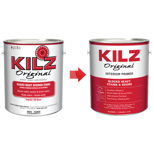 KILZ Original Interior Oil-Based Primer, Sealer & Stainblocker, White - New Look, Same Trusted Formula