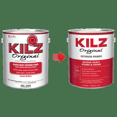 KILZ Original Interior Oil-Based Primer, Sealer & Stainblocker, White - New Look, Same Trusted Formula