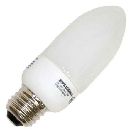 Sylvania 29039 - CF7EL/DECO/MEDIUM/2700K Torpedo Screw Base Compact Fluorescent Light Bulb