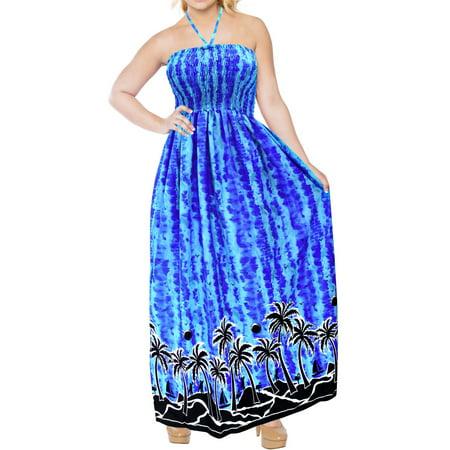 Bay Halter - Swimsuit Maxi Long Halter Neck Swimwear Dress Cover up Beachwear Evening Large