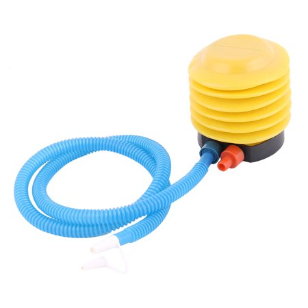 Unique Bargains Blue Yellow Plastic Hand Foot Pump Inflator for Air
