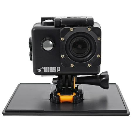 WASPCAM 9941 Wi-Fi Waterproof 4K Action Camera HD USB Action Cam - Black
