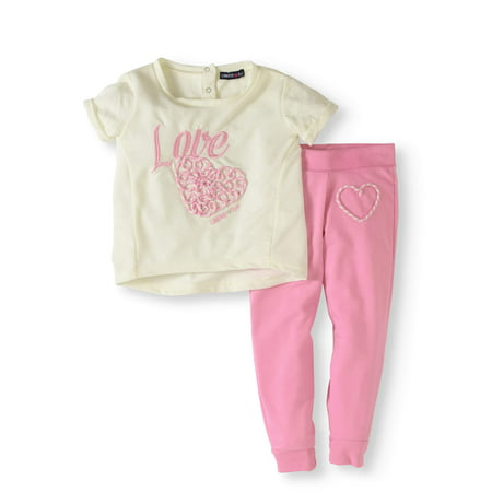 Limited Too Newborn Baby Girls' French Terry Joggers 2-Piece Set - Buy Girl Online