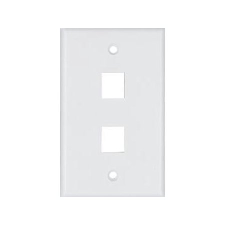 Cooper Wiring Devices 3532-6W Flush Mount Wallplate with Telephone Jack 6-Conductor, White
