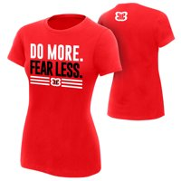 "Official WWE Authentic Nikki Bella ""Do More, Fear Less"" Women's  T-Shirt Red Small"