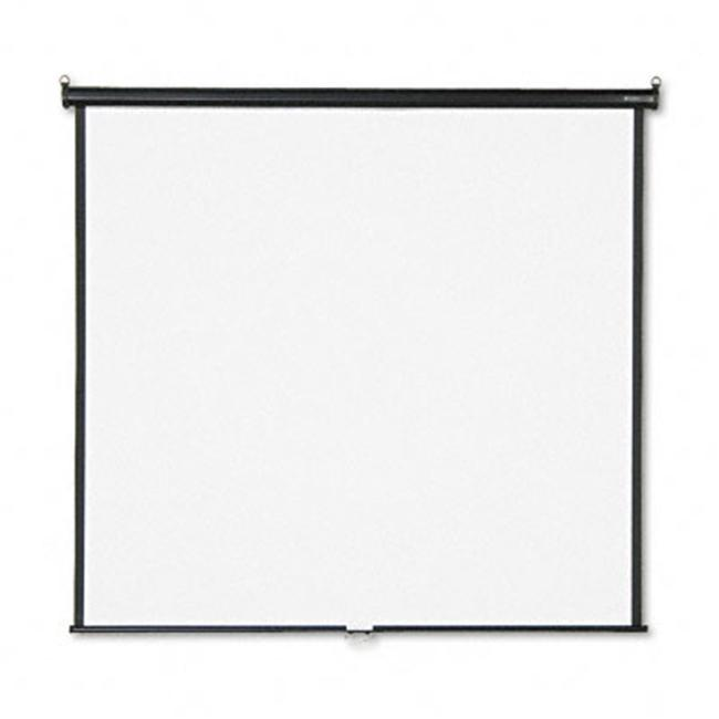 Quartet 670S Wall or Ceiling Projection Screen  70 x 70  White Matte  Black Matte Casing - image 1 of 1