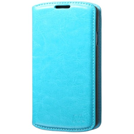 Insten Folio Leather Wallet Fabric Stand Case with Card slot For LG Tribute - Blue - image 1 de 3