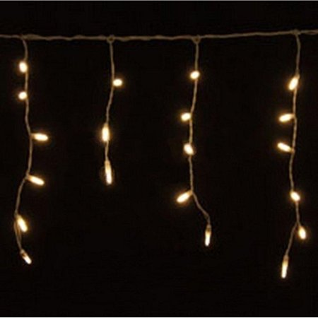 70 warm white led icicle lights white wire. Black Bedroom Furniture Sets. Home Design Ideas
