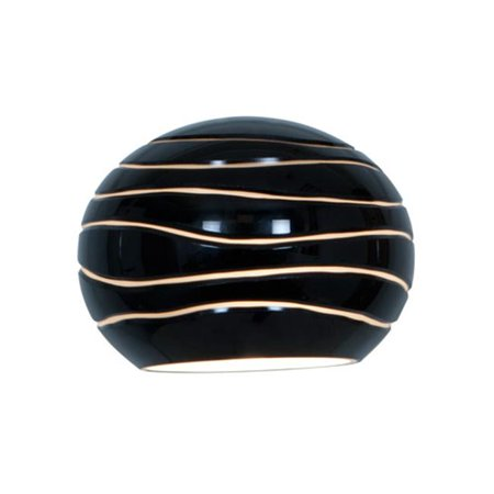 Access Lighting 979WJ-BLKLN Sphere Black Lined Glass Shade Pendant