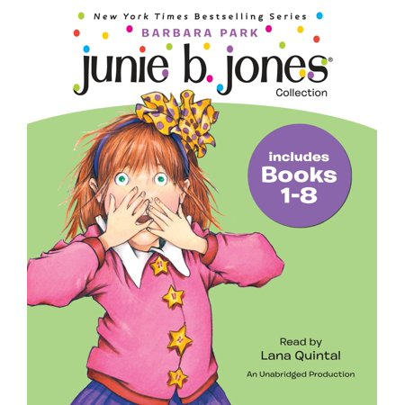 Junie B  Jones Collection  Books 1 8    1 Stupid Smelly Bus   2 Monkey Business   3 Big Fat Mouth   4 Sneaky Peeky Spyi Ng   5 Yucky Blucky Fruitcake   6 Meanie Jims Bday   7 Handsome Warren   8 Mon