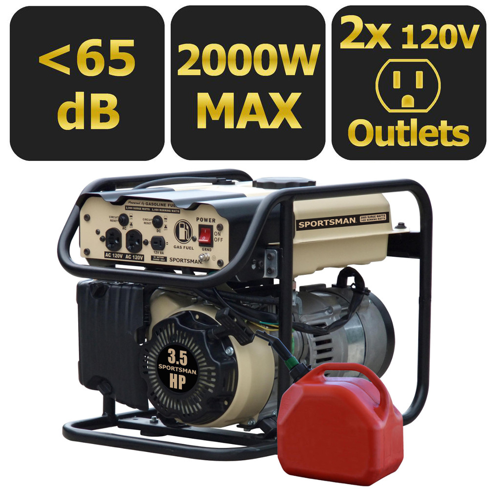 Sportsman Sandstorm Series Gasoline 2000-Watt Portable Generator