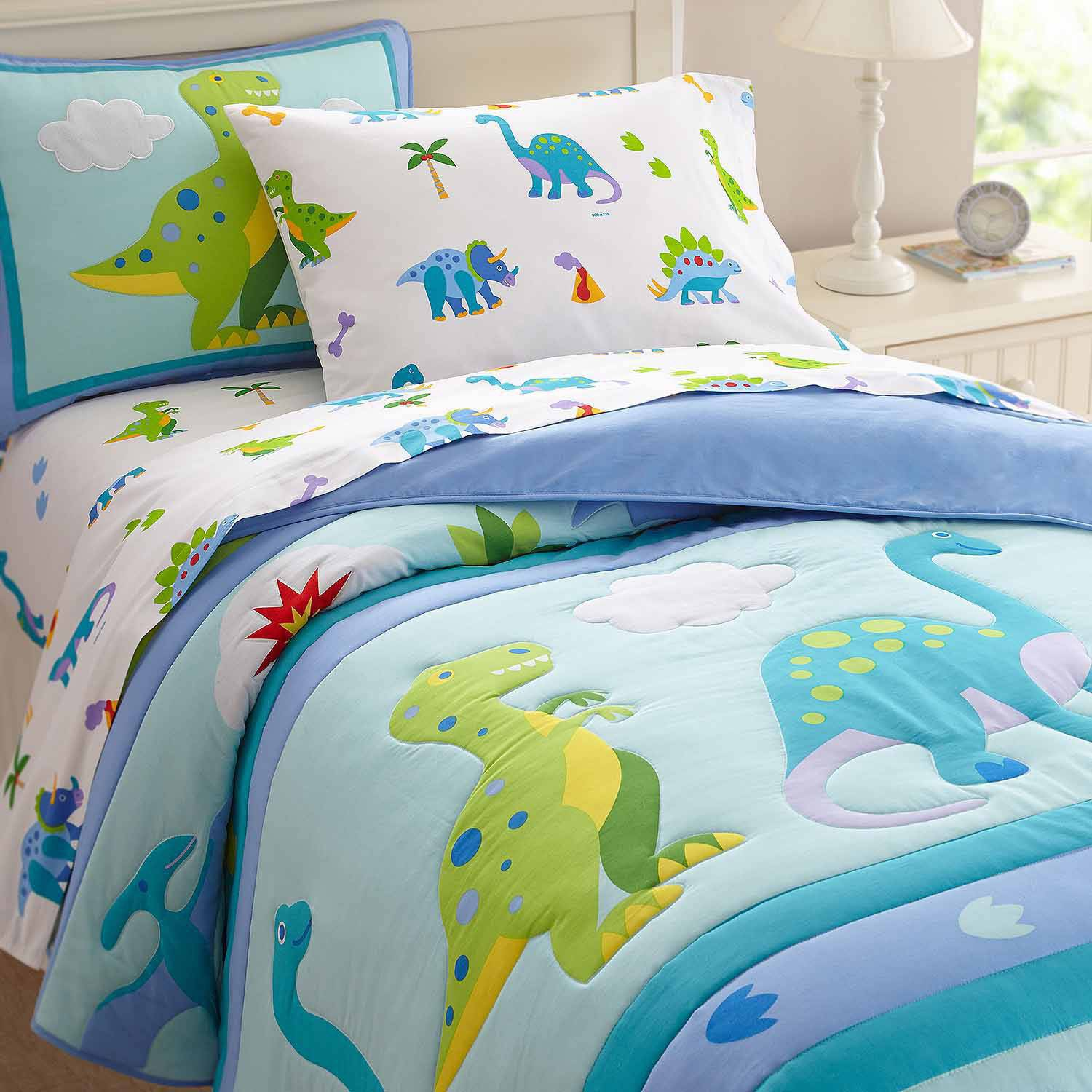 dinosaur bedroom.  Olive Kids Dinosaur Land Bedding Comforter Set Walmart com