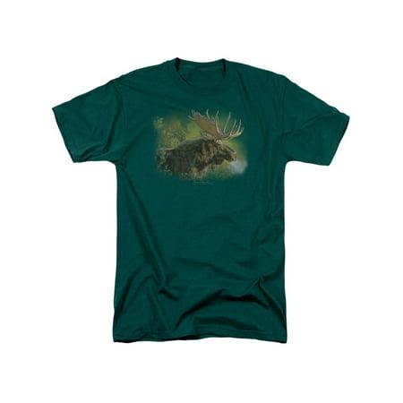 Wildlife Wild Animals Nature A Moose's Crisp Fall Morning Adult T-Shirt (Wild Animal T-shirts)