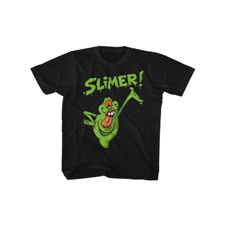 The Real Ghostbusters Animated TV Series Green Slimer Youth Big Boys T-Shirt - Ghost Busters Outfit