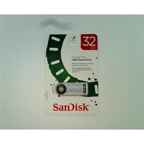 SanDisk Cruzer Dial USB Flash Drive 32 GB (Green Dots)