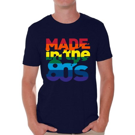 Awkward Styles Made in the 80s Shirt Rainbow 80s T shirt Rainbow Shirt 80s Birthday Shirt Gay Pride Shirt 80s Rock T Shirt 80s T Shirt 80s Costume 80s Clothes for Men 80s Outfit for $<!---->
