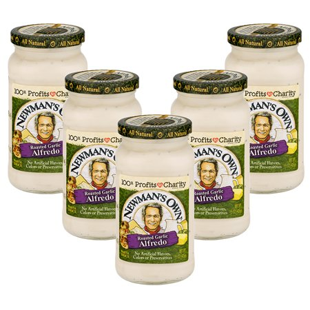 (5 Pack) Newman's Own Roasted Garlic Alfredo Sauce, 15 -