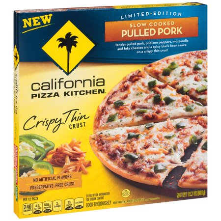 CALIFORNIA PIZZA KITCHEN Limited Edition Crispy Thin Crust Slow Cooked Pulled Pork Frozen Pizza 12.7 oz -  Nestl USA, Inc., 0007192191711
