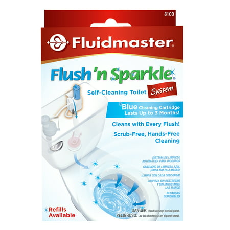 Fluidmaster® 8100P8 Flush 'n Sparkle® Automatic Blue Toilet Bowl Cleaning (Best Toilet Flush System)