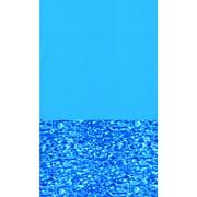 Swimline Blue Swirl Round Standard Gauge Overlap Liner - 48/52-in