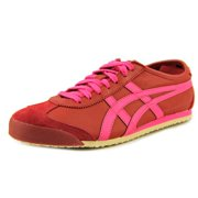 Onitsuka Tiger by Asics Mexico 66 Women  Round Toe Leather Burgundy Sneakers