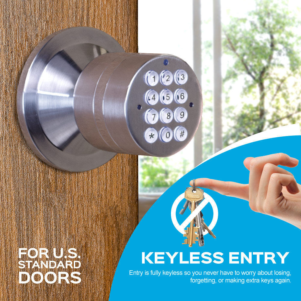 Turbolock Keyless Smart Door Lock With Automatic Locking Battery