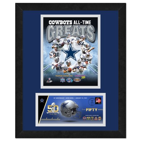Dallas Cowboys   Commemorative Super Bowl Cover And Photo With Envelope  All Time Greats